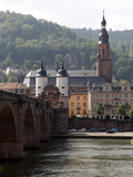 River Neckar, Old Bridge, Old Town, Heidelberg, Baden-Wurttemberg, Germany, Europe Photographic Print by Hans-Peter Merten