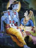 Picture of Hindu Gods Krishna and Rada, India, Asia Photographic Print by  Godong