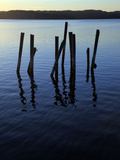 A Disused Pier Fallen into Ruins, Bohuslan, West Coast of Sweden, Scandinavia, Europe Photographic Print by David Pickford