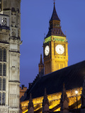 Big Ben at Dusk, Westminster, London, England, United Kingdom, Europe Photographic Print by Frank Fell