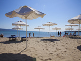 People Enjoying the Beach and Sunshades, South Sunny Beach, Black Sea Coast, Bulgaria, Europe Photographic Print by Dallas & John Heaton