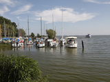 Harbour of Baltic Sea Spa of Bansin, Usedom, Mecklenburg-Western Pomerania, Germany, Europe Photographic Print by Hans-Peter Merten