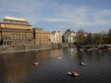 National Theatre and the River Vltava, Prague, Czech Republic, Europe Photographic Print by Hans-Peter Merten