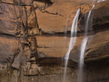 Waterfall over Navajo Sandstone, Zion National Park, Utah, United States of America, North America Photographic Print by Colin Brynn