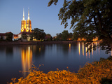 Cathedral and River Odra (River Oder), Old Town, Wroclaw, Silesia, Poland, Europe Photographie par Frank Fell