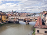 View of the River Arno and Ponte Vecchio, Florence, UNESCO World Heritage Site, Tuscany, Italy, Eur Photographic Print by  Godong