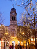 Christmas Lights and Guild Hall at Dusk, Derby, Derbyshire, England, United Kingdom, Europe Photographic Print by Frank Fell