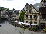 Market Square, Oberwesel, Rhine Valley, Rhineland-Palatinate, Germany, Europe Photographic Print by Hans-Peter Merten