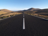 Road Near La Pared, Fuerteventura, Canary Islands, Spain, Europe Photographie par Hans-Peter Merten
