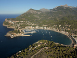 Port De Soller, Mallorca, Balearic Islands, Spain, Mediterranean, Europe Fotoprint van Hans-Peter Merten