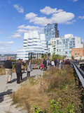 People Walking on the High Line, a One Mile New York City Park, New York, United States of America, Papier Photo par Gavin Hellier