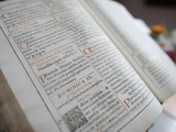Latin Bible, France, Europe Photographic Print by  Godong