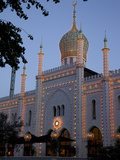 Pavilion at Dusk, Tivoli Gardens, Copenhagen, Denmark, Scandinavia, Europe Photographic Print by Frank Fell