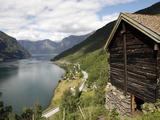 Aurlandsfjorden Near Flam, Sogn Og Fjordane, Norway, Scandinavia, Europe Photographic Print by Hans-Peter Merten