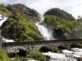 Latefossen Waterfall Near Odda, Hordaland, Norway, Scandinavia, Europe Photographic Print by Hans-Peter Merten