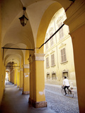 Arcade and Cyclist, Modena, Emilia Romagna, Italy, Europe Photographic Print by Frank Fell