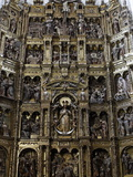 Reredos, Iglesia De Santa Maria De Coronada, Medina Sidonia, Andalucia, Spain, Europe Photographic Print by  Godong