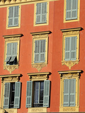 Ornate Shuttered Windows, Port Lympia in the Quartier Du Port, Nice, Alpes Maritimes, Provence, Cot Photographic Print by Peter Richardson