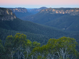 Moonrise over the Grose Valley, Blue Mountains National Park, UNESCO World Heritage Site, New South Photographic Print by Jochen Schlenker