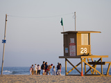 Lifeguard Tower on Newport Beach, Orange County, California, United States of America, North Americ Photographic Print by Richard Cummins