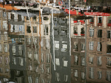 Reflections in Inner Harbour, Honfleur, Normandy, France, Europe Photographic Print by Nick Servian