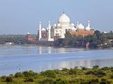 Taj Mahal, UNESCO World Heritage Site, across the Jumna (Yamuna) River, Agra, Uttar Pradesh State,  Photographic Print by Gavin Hellier