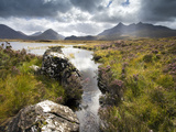 View over Loch Caol to Sgurr Nan Gillean and Marsco, Glen Sligachan, Isle of Skye, Highlands, Scotl Photographic Print by Lee Frost