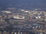 Aerial View of the 2012 Olympic Stadium, Stratford, East End, London, England, United Kingdom, Euro Photographic Print by Peter Barritt