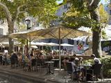 Restaurant in Placa De La Constitucio, Soller, Mallorca (Majorca), Balearic Islands, Spain, Mediter Photographie par Stuart Black