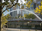 Southgate Footbridge over Yarra River, Melbourne, Victoria, Australia, Pacific Photographic Print by Nick Servian