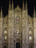 Duomo at Night, Milan, Lombardy, Italy, Europe Photographic Print by Vincenzo Lombardo