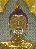 Golden Buddha Statue, Wat Tramit (Temple of the Golden Buddha), Bangkok, Thailand, Southeast Asia,  Lámina fotográfica por Richard Maschmeyer