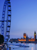 London Eye and Big Ben, London, England, United Kingdom, Europe Photographic Print by Marco Simoni