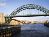 Tyne Bridge from the Swing Bridge, Newcastle Upon Tyne, Tyne and Wear, England, United Kingdom, Eur Photographic Print by Mark Sunderland