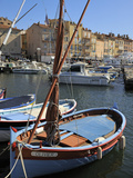 Fishing Boats in Vieux Port Harbour, St. Tropez, Var, Provence, Cote D'Azur, France, Mediterranean, Fotoprint van Peter Richardson