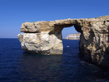 Azure Window, Dwejra Bay, Gozo, Malta, Mediterranean, Europe Photographic Print by Hans-Peter Merten
