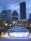 The Ice Rink at Night, Robson Square, Downtown, Vancouver, British Columbia, Canada, North America Photographic Print by Martin Child