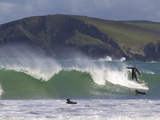 Surfers, Harlyn Bay, Cornwall, England, United Kingdom, Europe Photographic Print by Jeremy Lightfoot