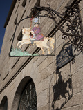 Hanging Sign of a Horseman, Place Jean Moulin, St. Malo, Brittany, France, Europe Photographic Print by Nick Servian