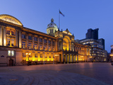 Council House and Victoria Square at Dusk, Birmingham, Midlands, England, United Kingdom, Europe Photographic Print by Charles Bowman