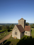 St. Marthas Church, St. Marthas Hill, Surrey Hills, North Downs Way, Near Guildford, Surrey, Englan Photographic Print by John Miller