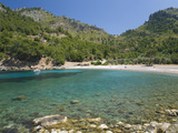 View across the Turquoise Waters of Cala Tuent Near Sa Calobra, Mallorca, Balearic Islands, Spain,  Photographic Print by Ruth Tomlinson