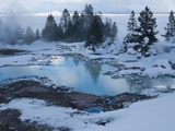 West Thumb Basin Winter Landscape, Yellowstone National Park, UNESCO World Heritage Site, Wyoming,  Photographic Print by Kimberly Walker