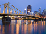 Andy Warhol Bridge (7th Street Bridge) over the Allegheny River, Pittsburgh, Pennsylvania, United S Lámina fotográfica por Richard Cummins