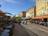 Cours Saleya Market and Restaurant Area, Old Town, Nice, Alpes Maritimes, Provence, Cote D'Azur, Fr Photographic Print by Peter Richardson