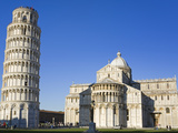 Leaning Tower and Duomo, Pisa, UNESCO World Heritage Site, Tuscany, Italy, Europe Photographic Print by Richard Cummins
