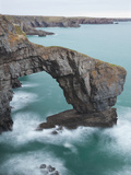 Green Bridge of Wales, Pembrokeshire, Wales, United Kingdom, Europe Photographic Print by Billy Stock