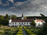 Schiltern Castle from Accross Arche Noah Bio Produce Garden, Schiltern, Niederosterreich, Austria,  Photographic Print by Richard Nebesky