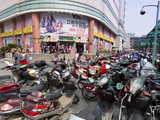City Centre Scooters, Chengdu, Sichuan Province, China, Asia Photographic Print by Neale Clark