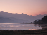 Phewa Lake at Sunset, Near Pokhara, Gandak, Nepal, Asia Photographic Print by Mark Chivers